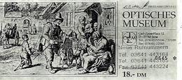 AK-H   Eintrittskarte Optisches Museum - Jena - Carl Zeiss Str.  18,00 DM - Tickets - Vouchers