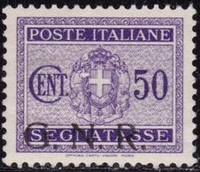 Rep. Sociale - 254  * 1944 - Segnatasse 30 C. Violetto Soprastampa Fortemente Spostata In Basso N. 51Ib. Cert. E. Chiav - 4. 1944-45 Social Republic