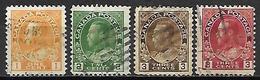 CANADA   -   1918 / 25 . Y&T N° 108 à 111 Oblitérés.   George  V. - Gebruikt
