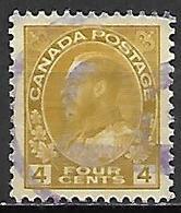 CANADA   -   1918 / 25 . Y&T N° 112 Oblitéré .   George  V. - Gebruikt