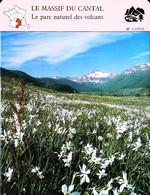 LE MASSIF DU CANTAL - Photo Vallée De Cheylade - FICHE GEOGRAPHIQUE Larousse Laffont - Géographie