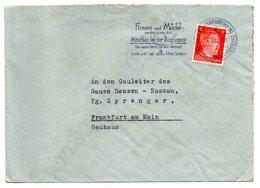 Brief An Gauleiter Sprenger Hessen - Nassau Frankfurt 1943 - Deutschland