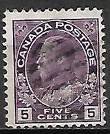 CANADA   -   1918 / 25 . Y&T N° 113 Oblitéré .   George  V. - Gebruikt