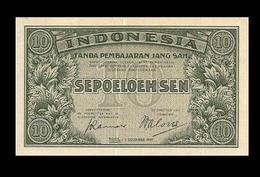 # # # Ältere Banknote Indonesien (Indonesia) 10 Sen AU # # # - Indonesia