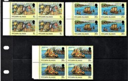 Pitcairn Islands 1978 Bounty Day Set As Blocks Of 4 MNH - Pitcairninsel