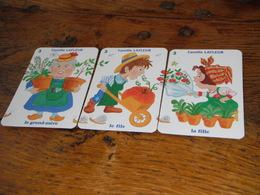 Carte Jeu Cartes Famille Lafleur Grand-mère Fils Fille Escargot Escargots Brouette Plantes Fleurs Sabots Bottes Jardin - Group Games, Parlour Games