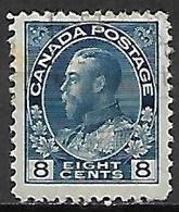 CANADA   -   1918 / 25 . Y&T N° 115 Oblitéré .   George  V. - Gebruikt