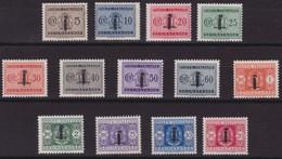 Rep. Sociale - 255 ** 1944 - Segnatasse Soprastampati Con Piccolo Fascio N. 60/72. Cert. E. Diena. Cat. € 1000,00. SPL - 4. 1944-45 Social Republic