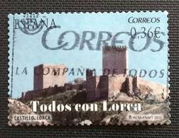 142. SPAIN 2012 USED STAMP LORCA CASTLE - 1931-Oggi: 2. Rep. - ... Juan Carlos I