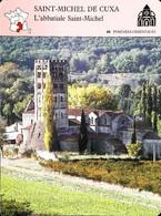 SAINT MICHEL DE CUXA - Photo Abbatiale Saint Michel - FICHE GEOGRAPHIQUE Larousse Laffont - Géographie