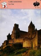 CARCASONNE  - Photo Remparts   - FICHE GEOGRAPHIQUE Larousse Laffont - Géographie