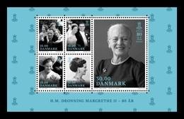 Denmark 2020 Mih. 2007/11 (Bl.74) HM Queen Margrethe II 80th Years MNH ** - Dänemark