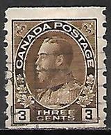 CANADA   -   1918 / 25 . Y&T N° 110aB Oblitéré .   George  V. - Gebruikt