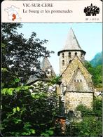 VIC SUR CÈRE  - Photo Eglise  - FICHE GEOGRAPHIQUE Larousse Laffont - Géographie