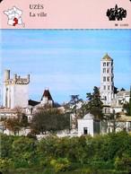 UZÈS  - Photo Ville  - FICHE GEOGRAPHIQUE Larousse Laffont - Géographie
