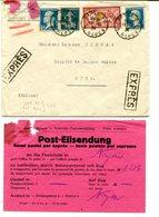 PARIS R GLUCK Env. Du 18/10/1924 Tarif EXPRES à 2F25 Pour NYON SUISSE - Marcophilie (Lettres)