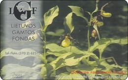 Litauen Chip Phonecard Blumen Flower Orchid - Litouwen