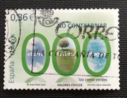 142. SPAIN  2012 USED STAMP ENVIRONMENT, NO CONTAMINATION - 1931-Oggi: 2. Rep. - ... Juan Carlos I