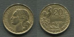 20 F GEORGES GUIRAUD 1950 B  3 FAUCILLES - L. 20 Francs