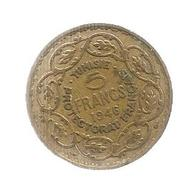 Monnaie , TUNISIE , Protectorat FRANCAIS , 5 Francs ,  1946 , Frais Fr 1.85 E - Kolonies