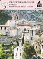 SAINT GUILHEM LE DÉSERT - Photo L'Abbatiale - FICHE GEOGRAPHIQUE Larousse Laffont - Géographie