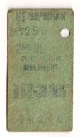 ANCIEN TICKET DE METRO PARIS BUTTES CHAUMONT      C340 - Subway