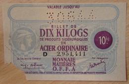 Billet Matière - 10 Kilo Acier Ordinaire 30 6 44 - Bons & Nécessité