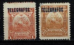 Nicaragua 1895 Telegrafos 41, 44  (2 Scans) - Nicaragua