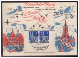 Bizone (005928) Frankfurter Messekarte Blanco Gestempelt Mit SST Vom 5.10.1948 - Zona Anglo-Americana