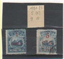 COSTA RICA 1881-83 YT N° 5 Et 9 - Costa Rica