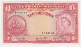 Bahamas 10 Shillings 1953 AUNC+ Pick 14d 14 D - Bahamas