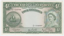 Bahamas 4 Shillings 1953 UNC NEUF Crisp Banknote Pick 13d 13 D - Bahamas