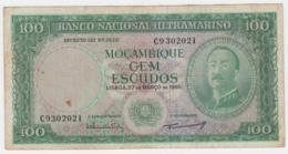 Portugal Mozambique 100 Escudos 1961 VF Banknote Pick 109a  109 A - Mozambique