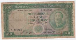 Portugal Mozambique 100 Escudos 1961 G-VG Banknote Pick 109a  109 A - Mozambique