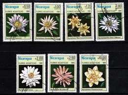 Nicaragua 1981 Yv. 1155/60 + PA 965, Mi 2201/07, Scott 1114/19 + C981- Waterflowers - Nicaragua