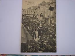 BELLE CARTE !! ATH - OUVERTURE DE LA DUCASSE ( MARIAGE MR ET MME GOLIATH ) - PERRON DE L'HOTEL DE VILLE - 1923 - Ath
