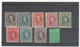 COSTA RICA 1889 YT N° 19 à 26 - Costa Rica