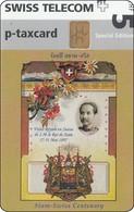 Schweiz Chip Phonecard Spezial Edition Siam - Swiss Hiss Majesty King RAMA V Thailand Mint - Switzerland