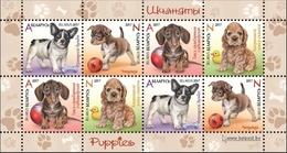 2017 Belarus Dogs Puppies Of Different Breeds. Souvenir Sheet Mi 1174/77 MNH* - Belarus