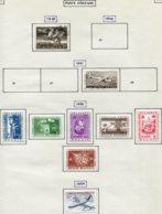 18168 BELGIQUE Collection Vendue Par Page  PA 24, 28, 30/5 + N°1113 (Poste)  */ °   1949-59  TB - Poste Aérienne