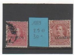 COSTA RICA 1889 YT N° 29-30 - Costa Rica