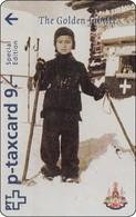 Schweiz Optical Phonecard Spezial Edition Gold Jubilee Hiss Majesty King RAMA IX Thailand Mint - Zwitserland