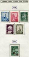18178 BELGIQUE Collection Vendue Par Page  Exprès 1/5, 6 */(*)   1929-32  TB - Belgium