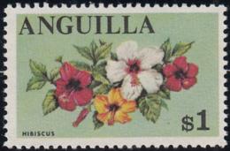 Anguilla 1967-68 MNH Sc #29 $1 Hibiscus - Anguilla (1968-...)