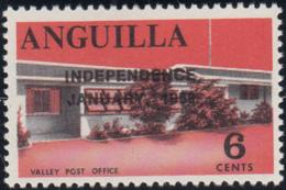 Anguilla 1969 MNH Sc #58 Overprint On 6c Valley Post Office Variety - Anguilla (1968-...)