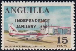 Anguilla 1969 MNH Sc #60 Overprint On 15c Wall-Blake Airport Variety - Anguilla (1968-...)