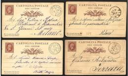 Italia/Italy/Italie: Intero, Stationery, Entier, 12 Pezzi, 12 Pièces, 12 Pieces - 1861-78 Vittorio Emanuele II