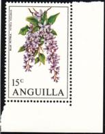 Anguilla 1970 MNH Sc #88 15c Blue Petrea Flowers - Anguilla (1968-...)
