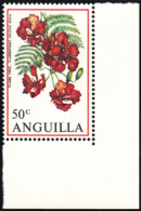 Anguilla 1970 MNH Sc #90 50c Flamboyant Flowers - Anguilla (1968-...)