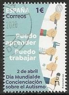 2020-ED. 5399 -Día Mundial De Concienciación Sobre El Autismo 2020- USADO - 1931-Oggi: 2. Rep. - ... Juan Carlos I